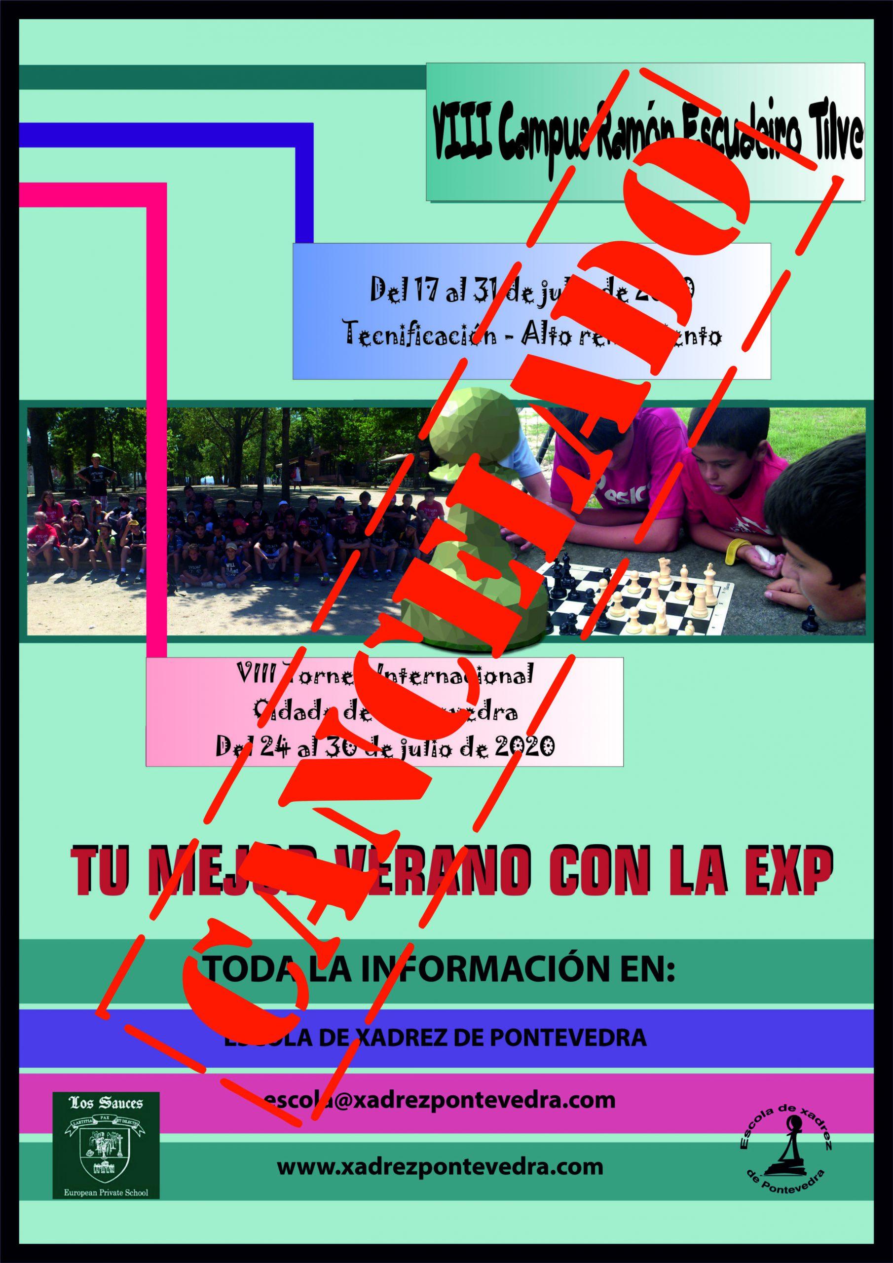 Cancelación del VIII Campus Internacional Ramón Escudeiro Tilve