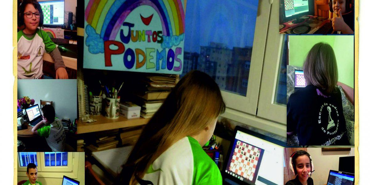 Encuentro Online de ajedrez Escola Xadrez Pontevedra-Magic Extremadura